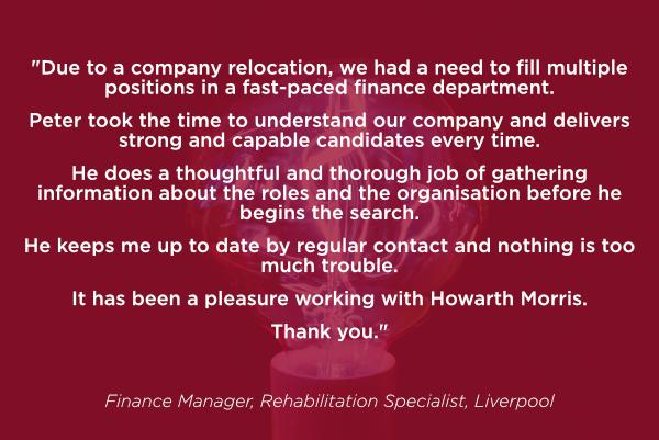 Finance Manager, Rehabilitation Specialist
