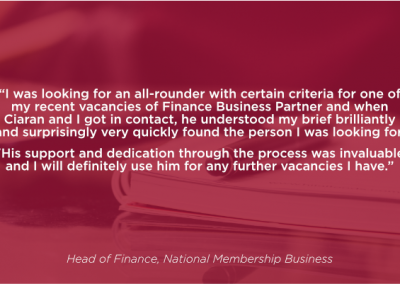 Head of Finance, National Membership Business