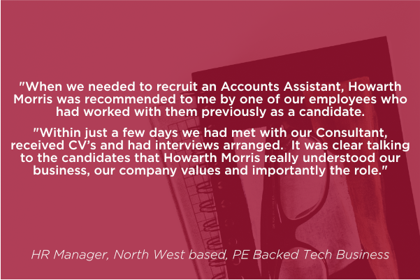 HR Manager, North West based, PE Backed Tech Business
